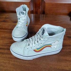 Vans girls kids Sneakers skateboard rainbow Sz 1.5